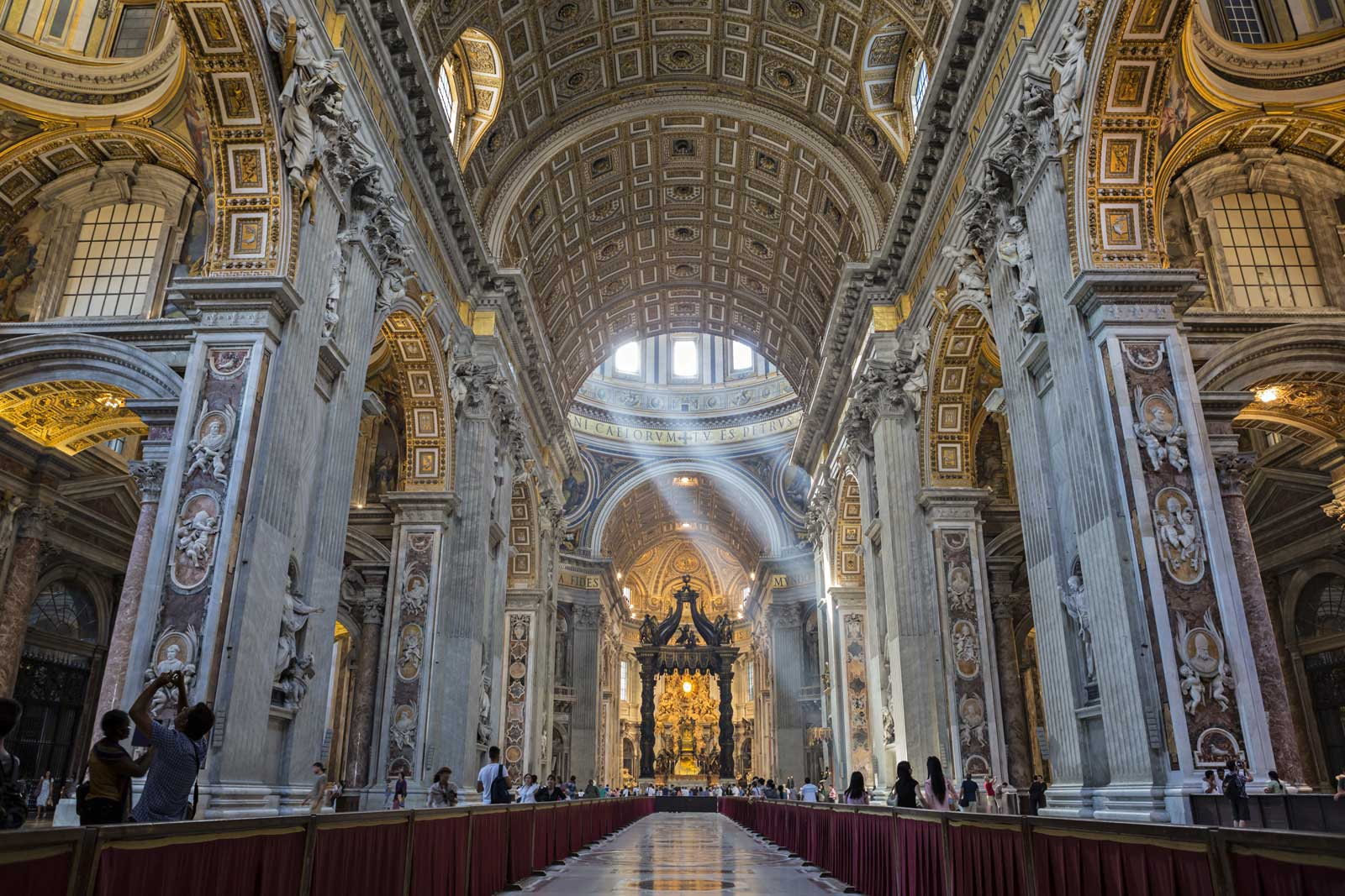Observe the largest church in the world and one of the most significant - St. Peter's Basilica. This Renaissance-style church designed by Bramante is as impressive inside as it is on the outside. Discover the many treasures within this religious temple, also one of the most popular sights in Rome, Italy.