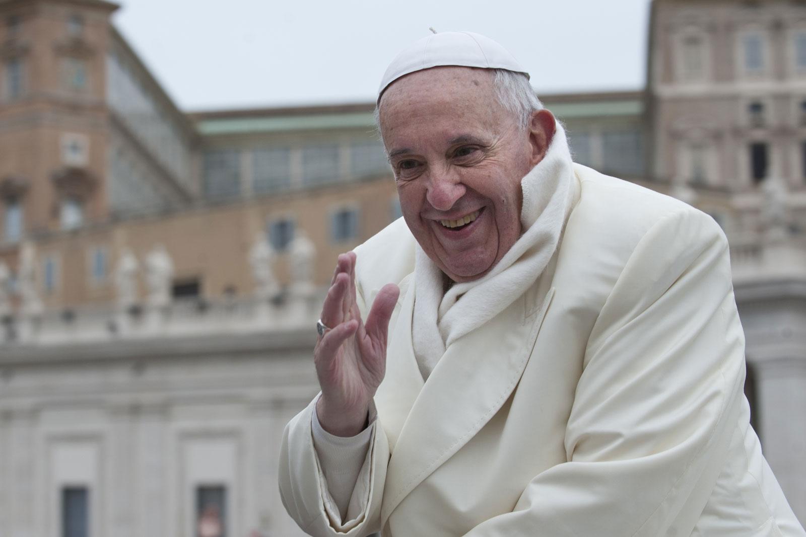 教皇方济各在梵蒂�