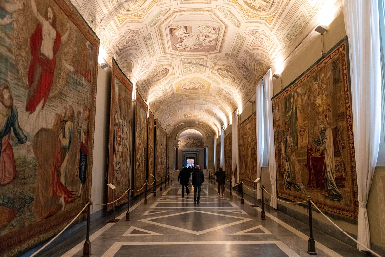 See the famous Gallery of the Maps of Italy and the Gallery of the Tapestries, a rich series of tapestries set up in 1838.
