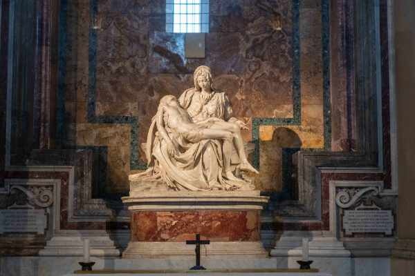 Witness Michelangelo's Pieta. Your guide will explain the details behind another one of Michelangelo's great works of Renaissance art and show you around the other impressive artworks hidden within St. Peter's Basilica.