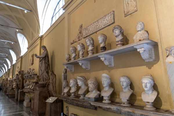 Founded in the early 19th century, the Chiaramonti Museum is one of the newest wings of the Vatican Museums. Your guide will take you through the key pieces exhibited in the museum.