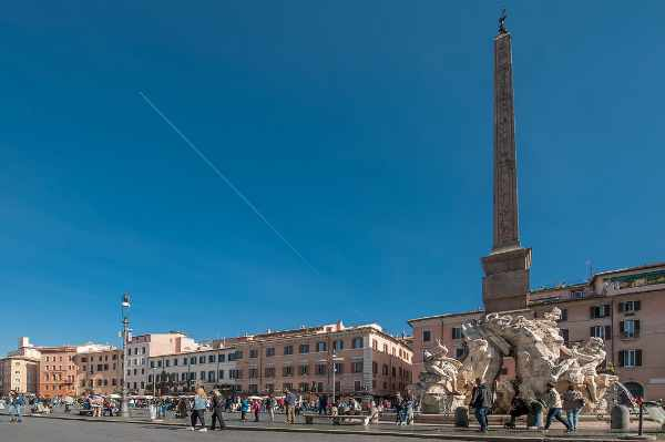 The most elegant <b>Rome square, Piazza Navona</b> is also the site of the first outdoor Roman <i>Stadium of Domitian</i> built in the 1st century AD. Where the ancient Romans went to watch their games is still a revered public space for tourists and locals.