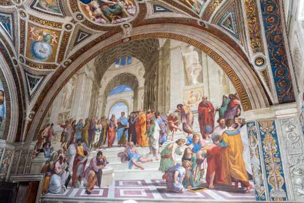 Your Vatican ticket also includes a visit to the Raphael Rooms. Admire the four rooms of the Vatican famous for their frescoes by High Renaissance great Raphael. The most popular fresco being Raphael's The School of Athens.
