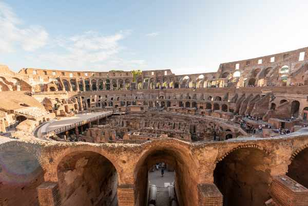 Originally named the <b>Flavian Amphitheater</b>, the Colosseum remains to be not only the largest theater in the world but one of the most recognizable monuments.
