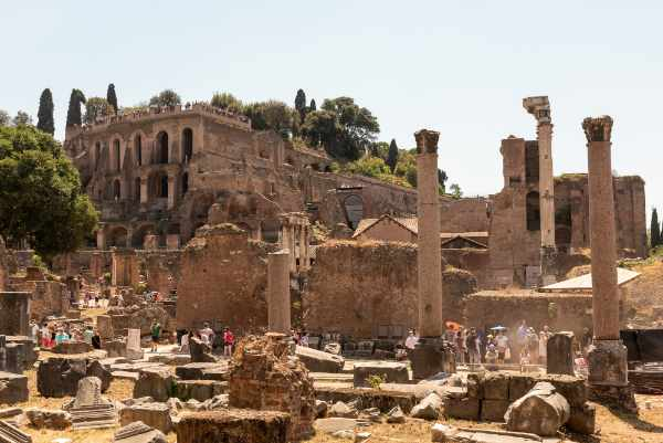 Visit one of the <b>Seven Hills of Rome</b>. Palatine Hill is the most ancient part of the city and also happens to have some breathtaking views of Rome overlooking the ancient ruins of the <b>Roman Forum</b>.